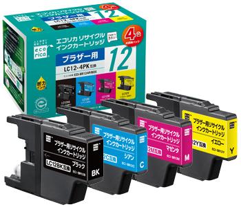 エコリカ リサイクルインクカートリッジ(ブラザー LC12シリーズ互換)