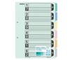 カラー仕切カード(ファイル用・6山見出し)