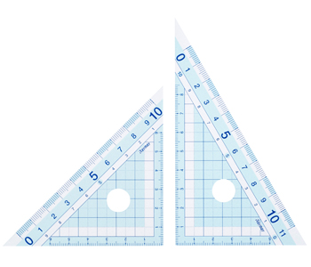 Study Mate はし0(ゼロ)メモリ定規 (三角定規)